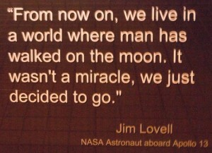 Jim Lovell on living in a world where we landed on the moon